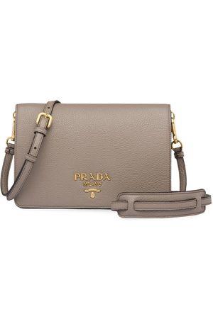 Prada Logo shoulder bag - Grey