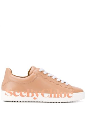 See by Chloé Logo print sneakers - Neutrals