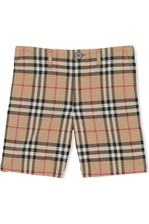 Burberry Kids Vintage check print shorts - Neutrals