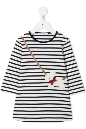 Familiar Baby Casual Dresses - Striped crossbody dog dress