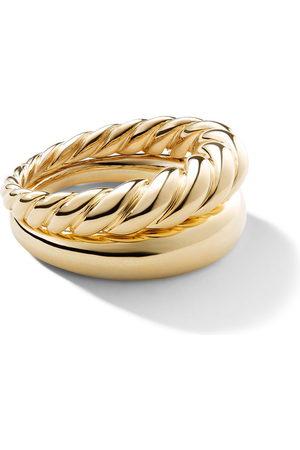 David Yurman Women Rings - 18kt yellow gold Pure Form stack rings - 88