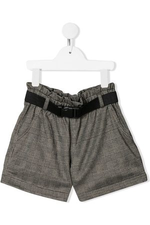 Le pandorine Check print shorts - Grey