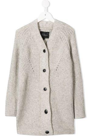 John Richmond Junior Girls Cardigans - V-neck cardigan - Grey