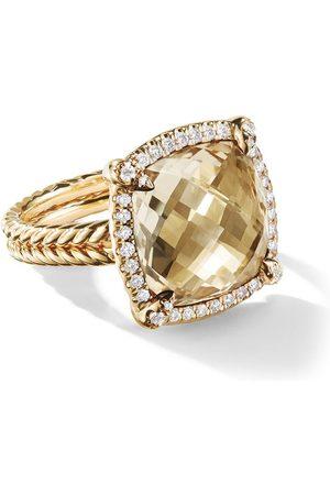 David Yurman 18kt yellow gold Châtelaine citrine and diamond ring - 88ACCDI