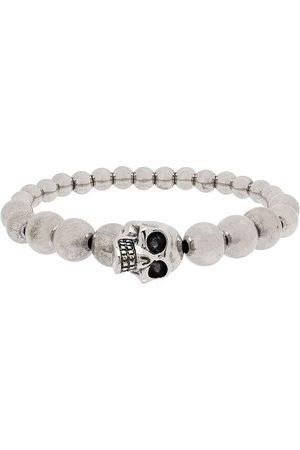 Alexander McQueen Men Bracelets - Beaded skull motif bracelet