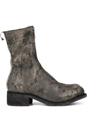 GUIDI Printed zip front boots