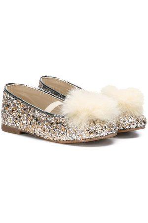 Babywalker Girls Ballerinas - Pom-pom glitter ballerinas