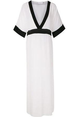 Brigitte Women Beach Dresses - Silk long dress - Multicolour