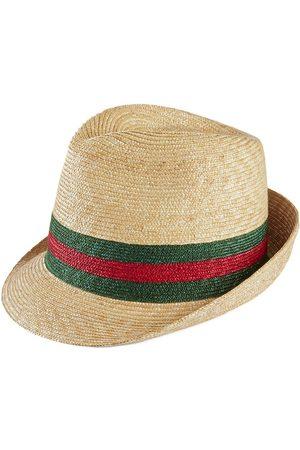 Gucci Woven straw fedora hat