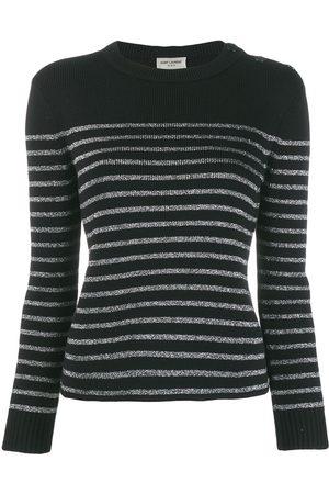 Saint Laurent Women Sweaters - Metallic striped jumper