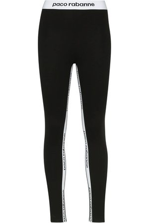 Paco rabanne Women Leggings - Logo print leggings