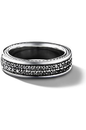 David Yurman Streamline two row pavé diamond band ring - SSABD