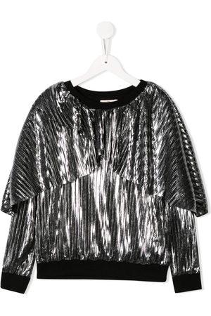 Le pandorine Girls Hoodies - Metallic pleated sweatshirt