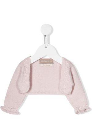 LA STUPENDERIA Ruffled cashmere cardigan