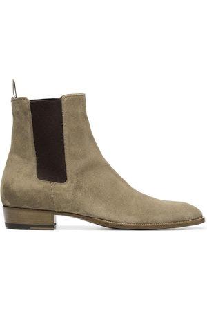 Saint Laurent Wyatt Chelsea boots - Neutrals