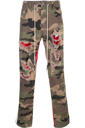 MOSTLY HEARD RARELY SEEN Men Sweatpants - Two-tone camouflage trousers