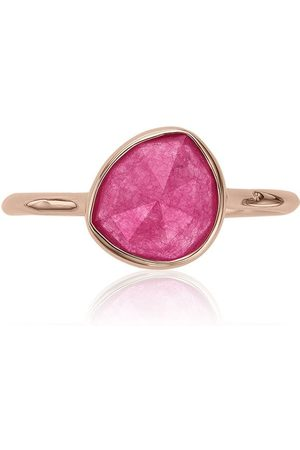 Monica Vinader Women Rings - Siren Stacking Pink Quartz ring