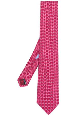 Salvatore Ferragamo Men Bow Ties - Gancio print tie