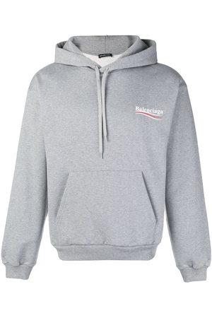 Balenciaga Men Hoodies - Logo hoodie - Grey