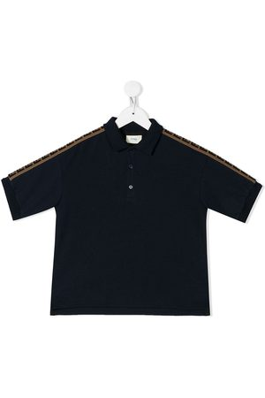 Fendi FF stripe polo shirt