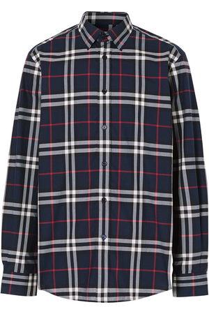 Burberry Men Long sleeves - Vintage Check cotton poplin shirt
