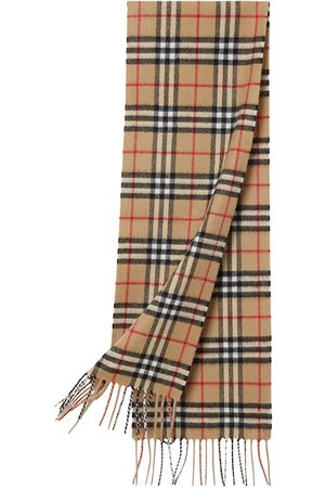 Burberry The Mini Classic Vintage Check Cashmere Scarf - Neutrals