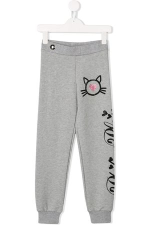 Philipp Plein Crystal Cat track pants - Grey