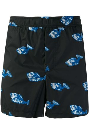 VALENTINO Men Swim Shorts - Carp printed swim shorts