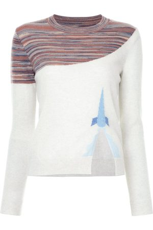 Onefifteen Striped detail jumper - Grey