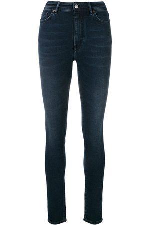 Acne Studios Women High Waisted - Peg high waist jeans