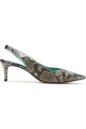 Blue Bird Python slingback pumps - Grey
