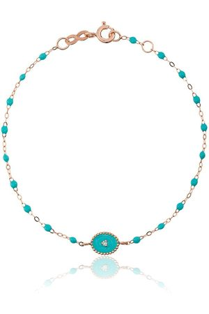 GIGI CLOZEAU 18kt rose gold Classic Gigi North Star diamond and turquoise beaded bracelet