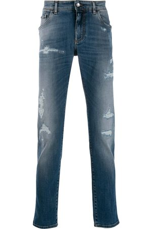 Dolce & Gabbana Men Slim - Distressed slim jeans