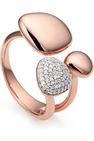 Monica Vinader Women Rings - Nura Pebble Cluster Diamond ring