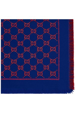 Gucci Girls Scarves - GG motif lamé scarf