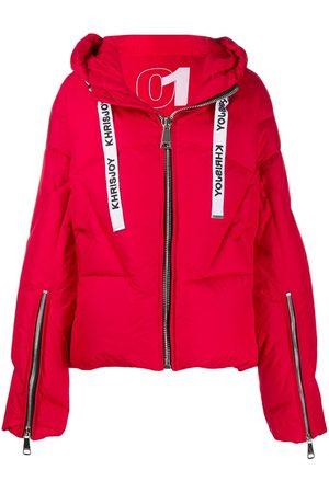 Khrisjoy Logo drawstring puffer jacket