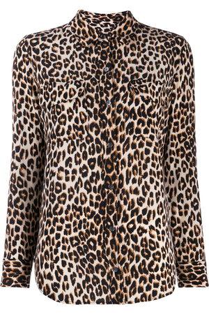 Equipment Women Shirts - Slim signature silk shirt - Neutrals