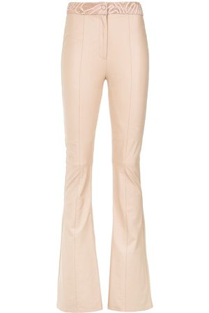 MARTHA MEDEIROS Women Wide Leg Pants - Magali wide leg trousers - Neutrals