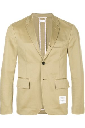 Thom Browne Men Blazers - 4-Bar unconstructed single-breasted jacket - Neutrals