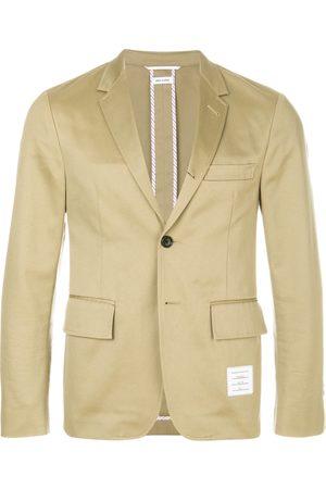 Thom Browne Men Blazers - Unconstructed Cotton Sport Coat - Neutrals
