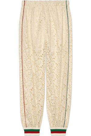 Gucci Women Sweatpants - Flower lace jogging pant