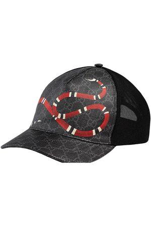 Gucci Kingsnake print GG Supreme baseball cap