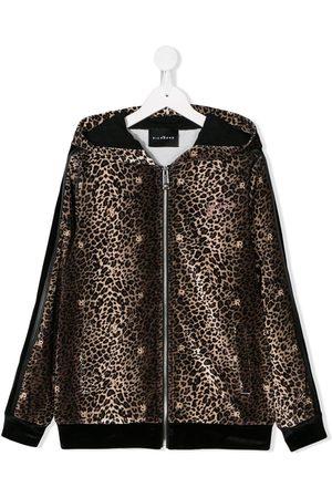 adidas TEEN leopard print jacket