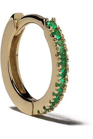 White Bird Women Hoop - 18kt emerald Margot medium single hoop earring - / Vert