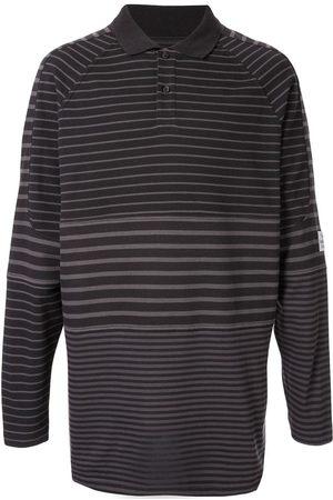 MARTINE ROSE Panelled polo shirt - Grey