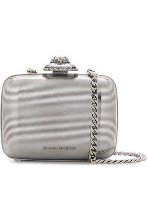 Alexander McQueen Women Clutches - Branded clutch bag - Metallic