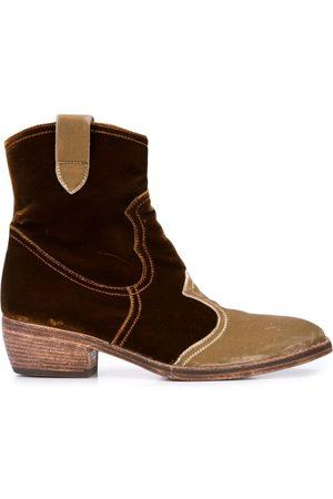 Madison.Maison Velvet ankle boots