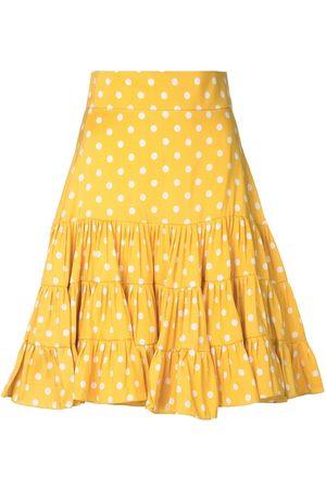Bambah Polka dot print silk skirt