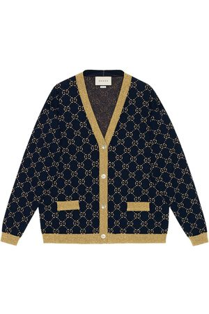 Gucci Women Cardigans - GG Supreme metallic cardigan