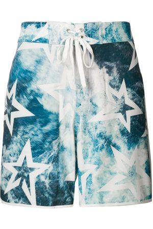 Perfect Moment Men Swim Shorts - Super Mojo ocean print swim shorts